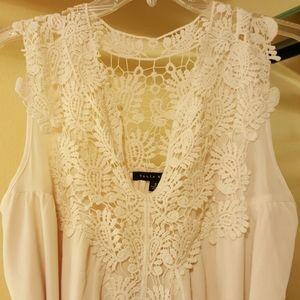 Haute Monday beige dress sz S
